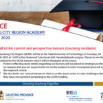 GAUTENG CITY REGION ACADEMY BURSARY OPPORTUNITIES