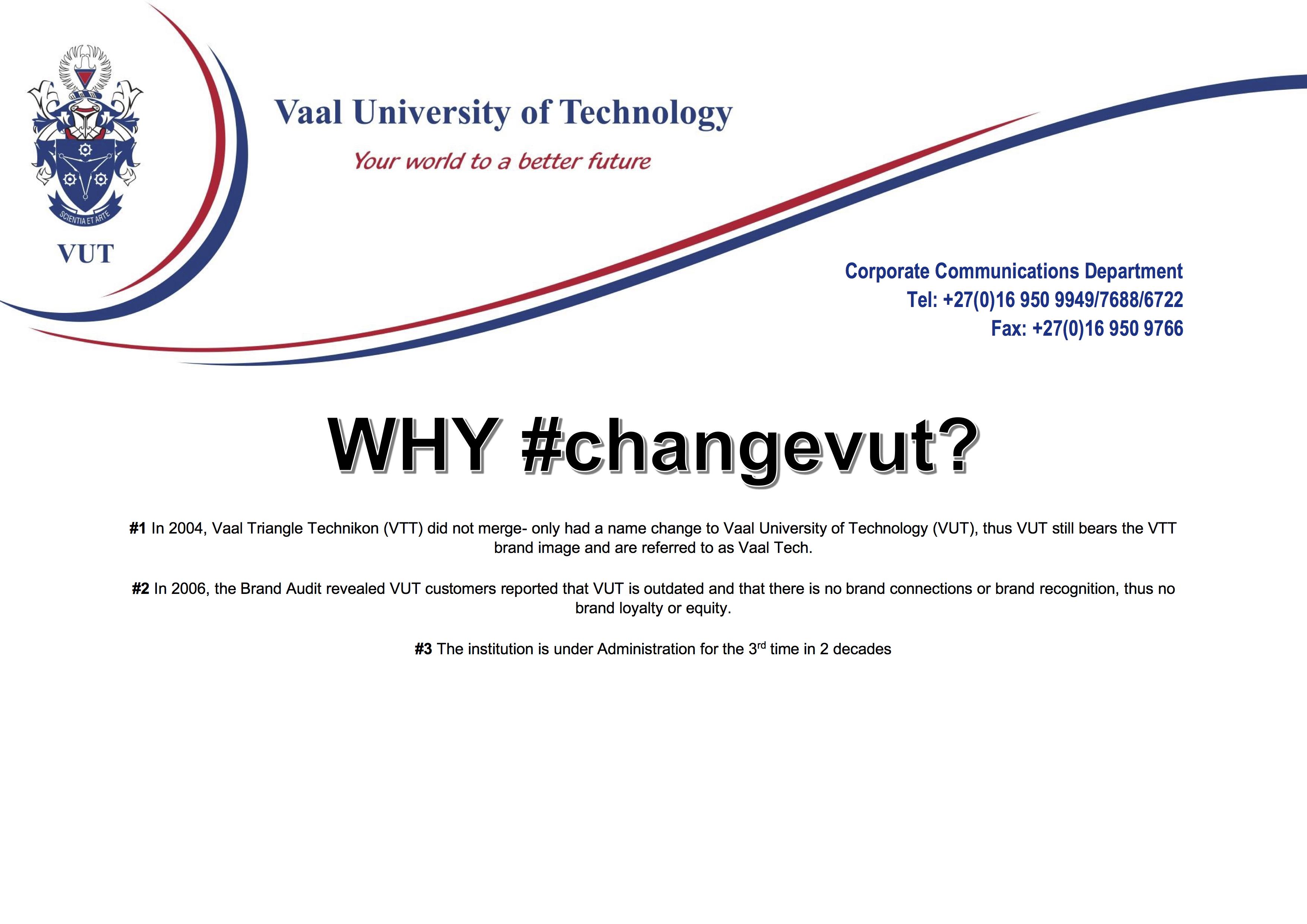 WHY #changevut?