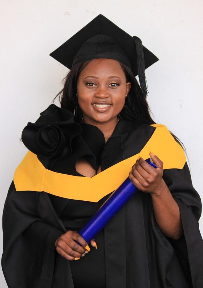 """""""Embrace your passion and commit to your dreams"""" advises the Cum laude graduate"""