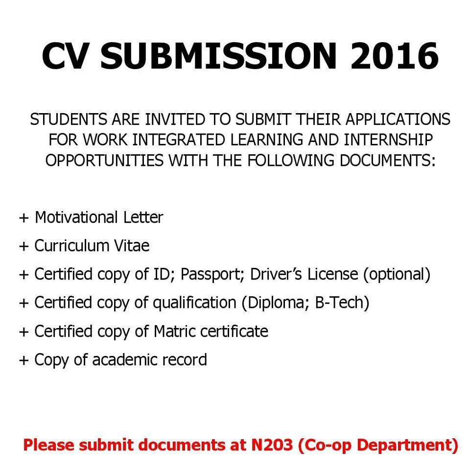 Services Offered | Vaal University of Technology