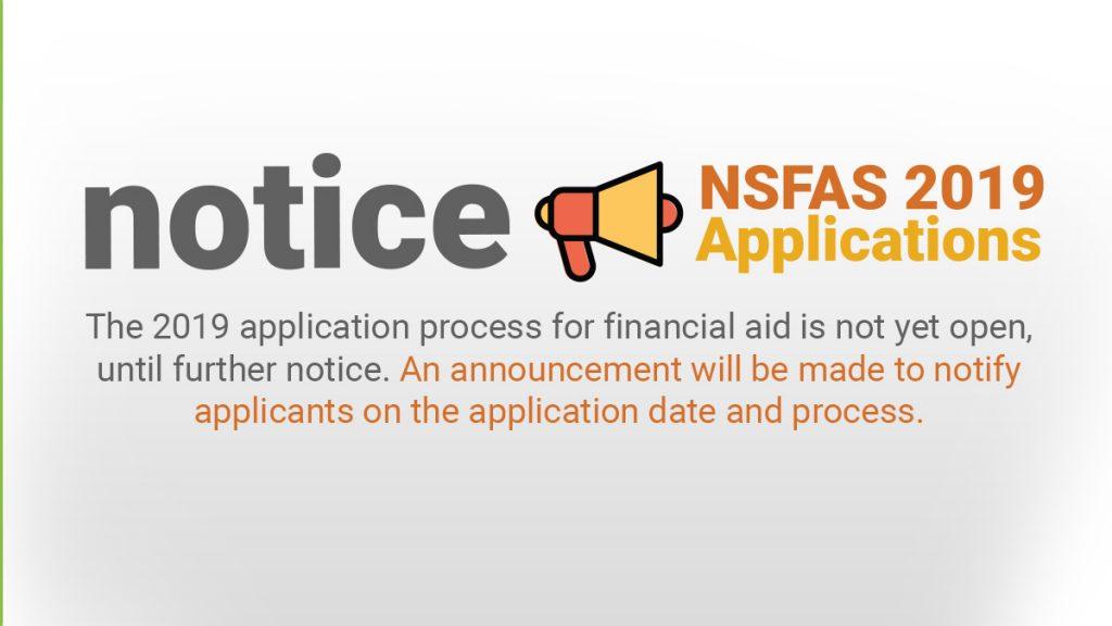 Image result for NSFAS 2019 Bursary
